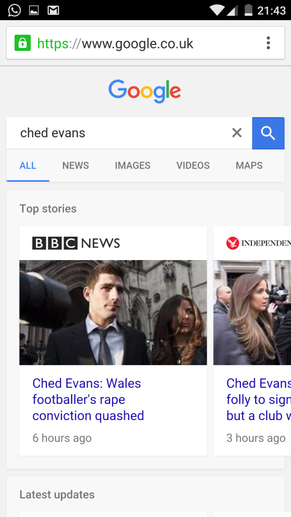 Ched Evans with Brand Logos