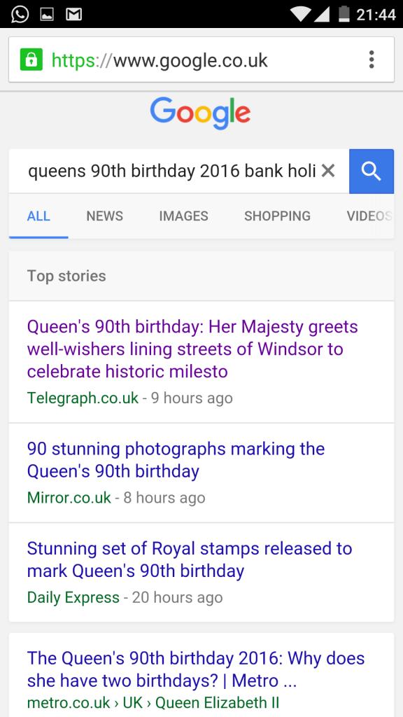 HRM Queen 90th Standard Top Stories