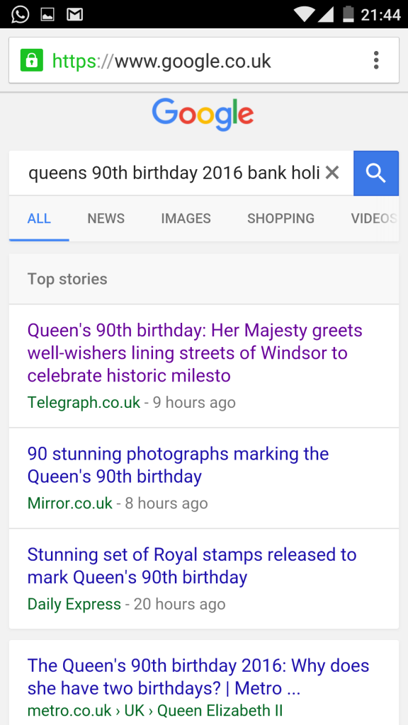 HRM Queen 90th Standard Top Stories